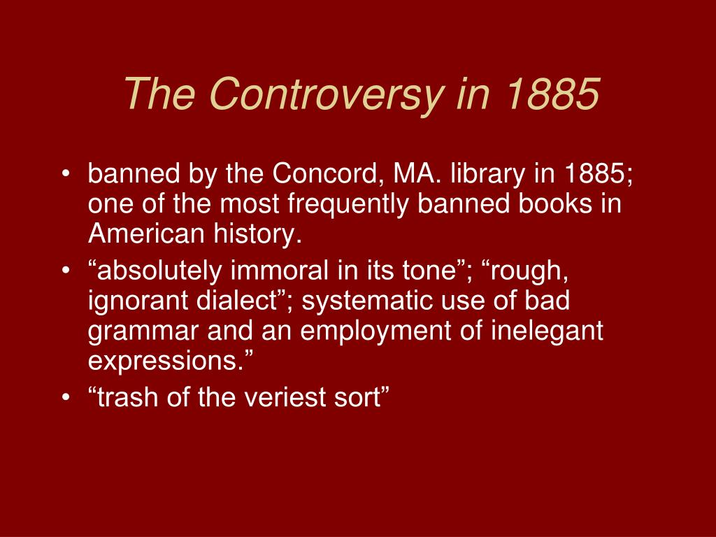 The Controversy in 1885