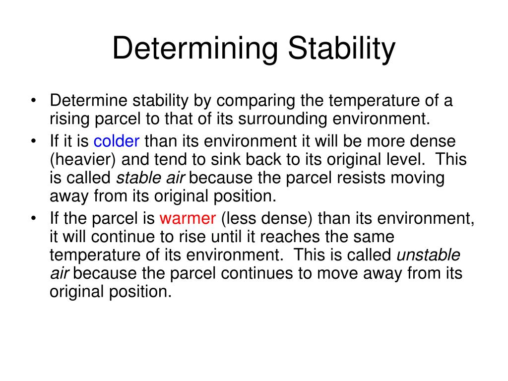 Determining Stability