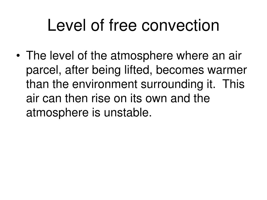 Level of free convection