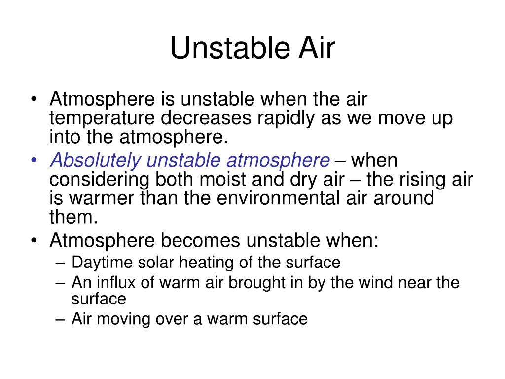 Unstable Air