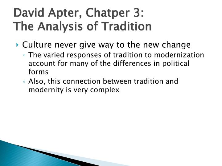 tradition and modernization A tradition is a belief or behavior passed down within a group or society with reflexive modernization: politics, tradition and aesthetics in the.