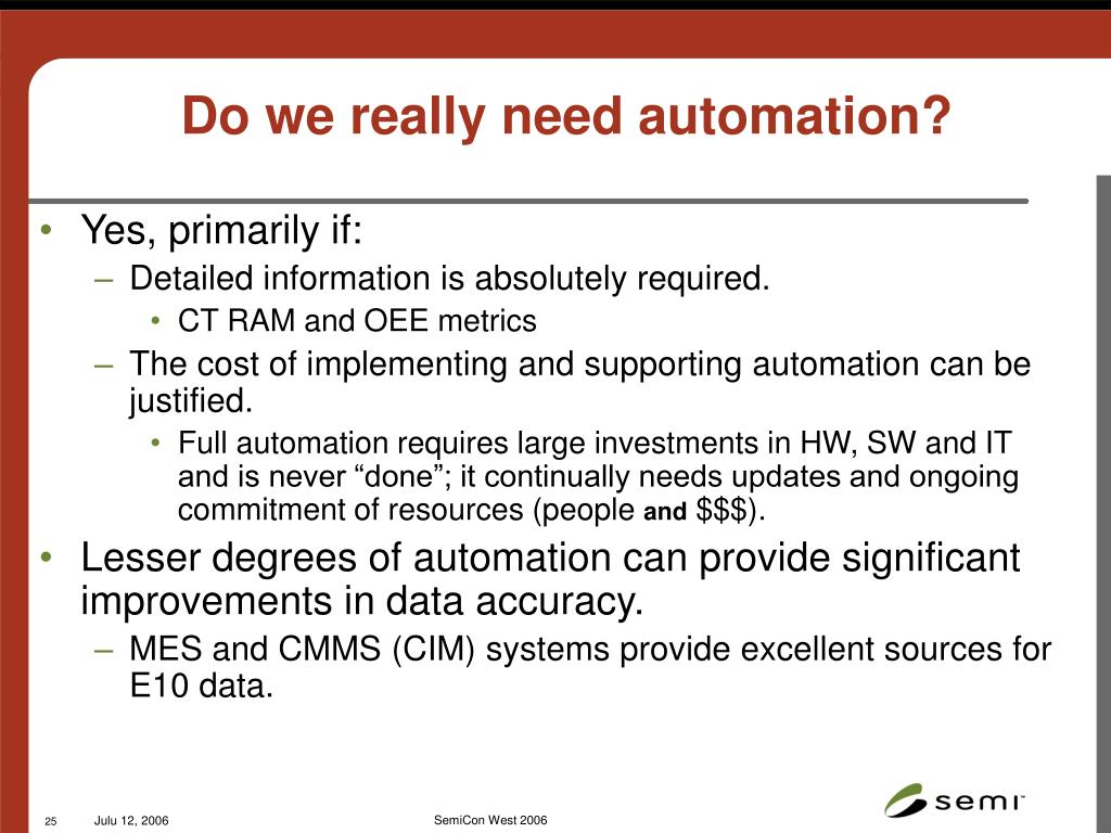 Do we really need automation?