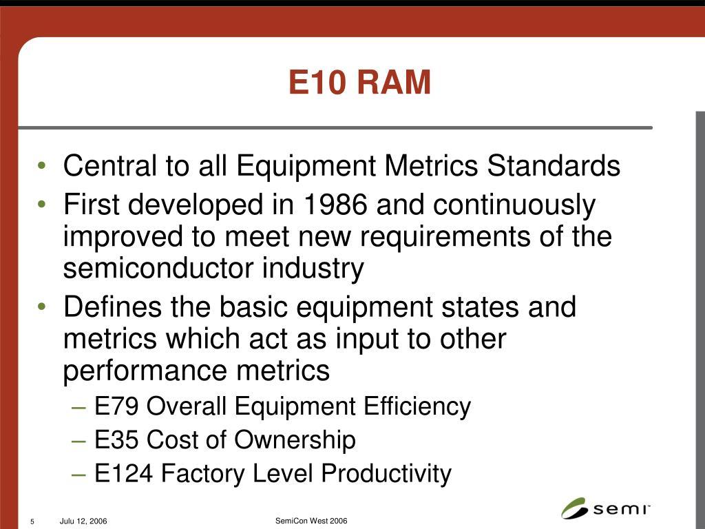E10 RAM
