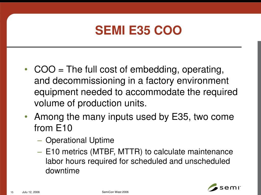 SEMI E35 COO