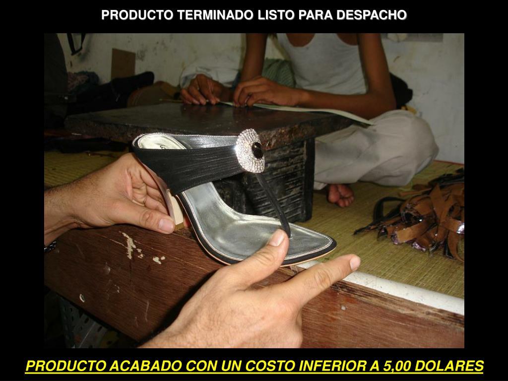 PRODUCTO TERMINADO LISTO PARA DESPACHO