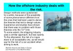 how the offshore industry deals with the risk1