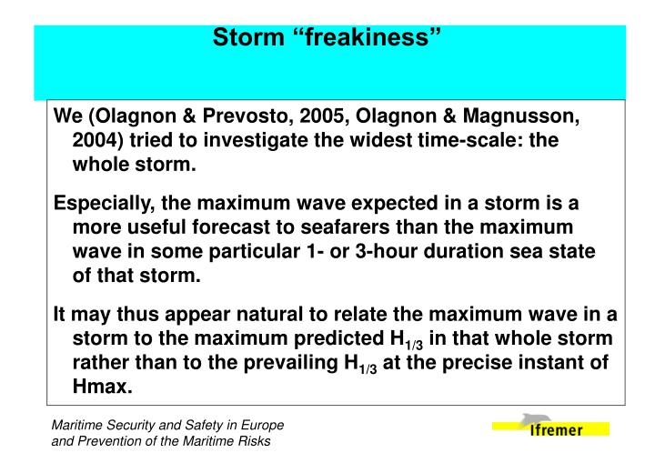 "Storm ""freakiness"""