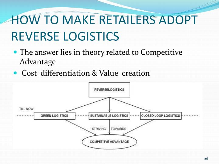 HOW TO MAKE RETAILERS ADOPT REVERSE LOGISTICS