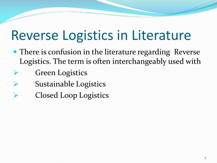 Reverse Logistics in Literature