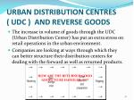 urban distribution centres udc and reverse goods