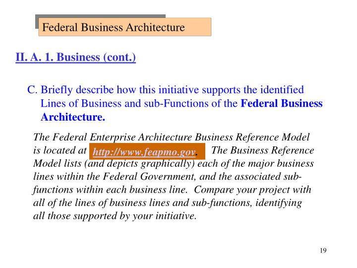 Federal Business Architecture