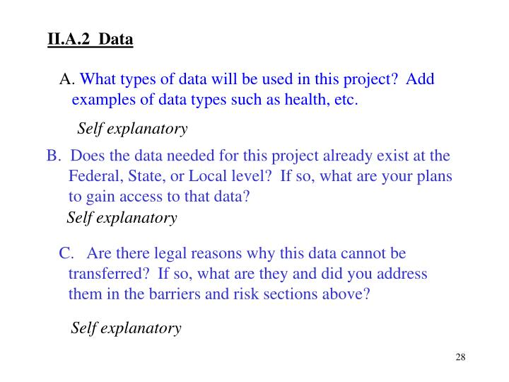 II.A.2  Data