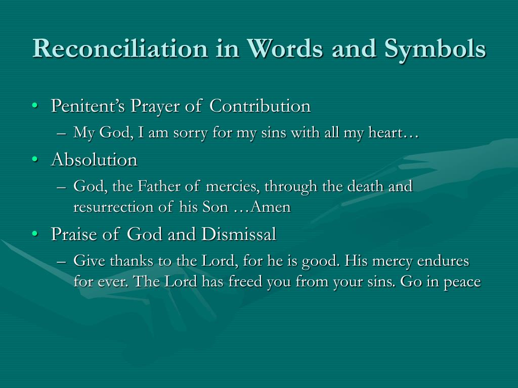 Reconciliation in Words and Symbols
