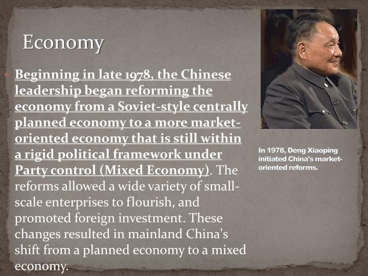 the shift from the soviet style centrally planned economy to market oriented economy in china China's command economy a centrally planned economy is one to a system that is now more market oriented in 2005, china had the china's command economy.