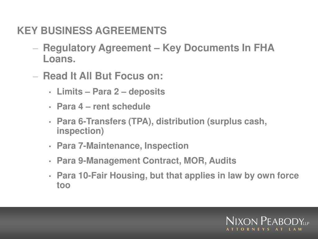 KEY BUSINESS AGREEMENTS