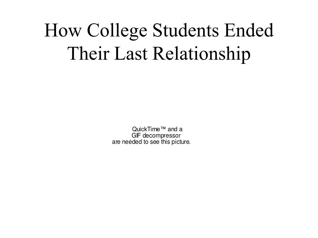 How College Students Ended Their Last Relationship
