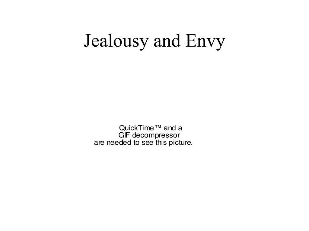 Jealousy and Envy