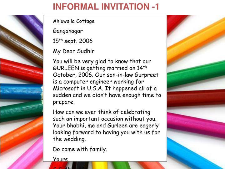INFORMAL INVITATION -1