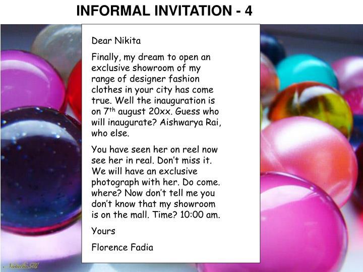 INFORMAL INVITATION - 4