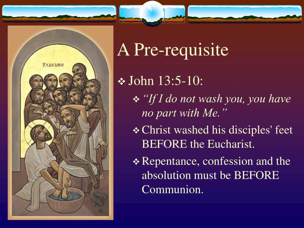 A Pre-requisite
