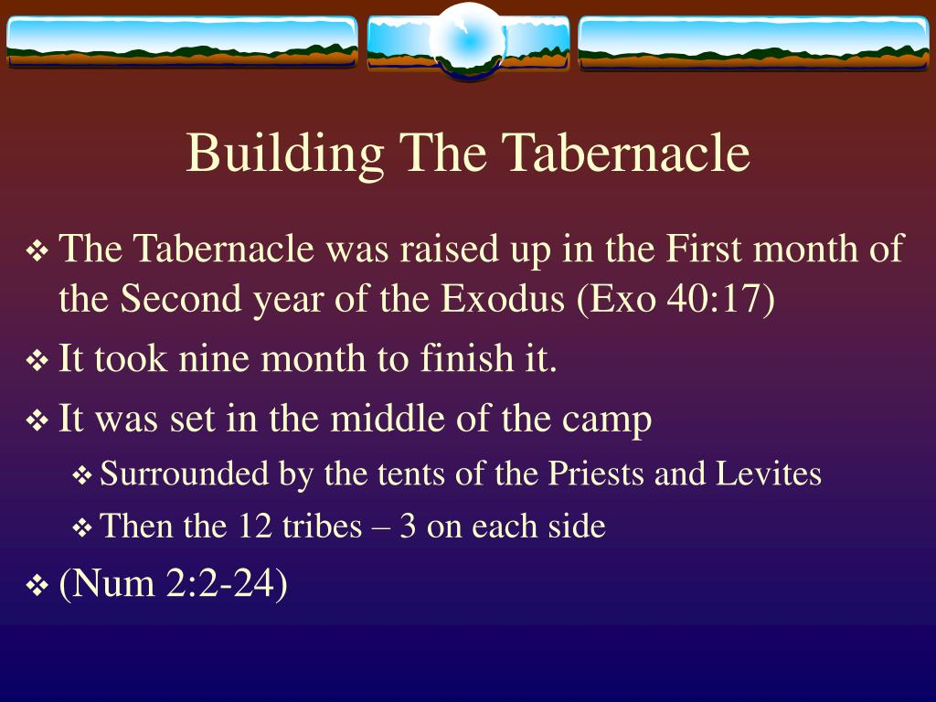 Building The Tabernacle