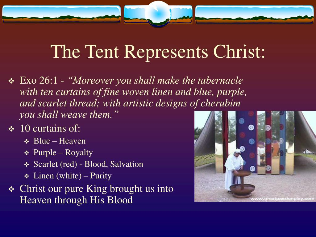 The Tent Represents Christ: