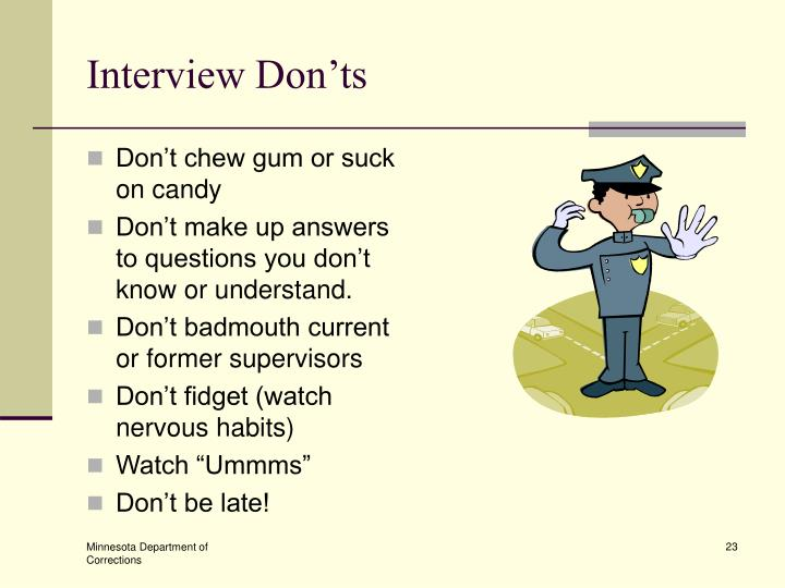 Interview Don'ts