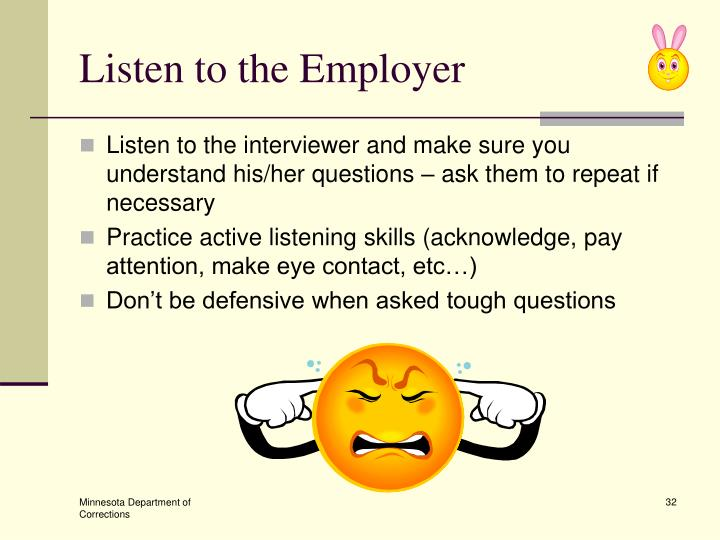 Listen to the Employer