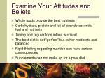 examine your attitudes and beliefs