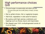 high performance choices grill