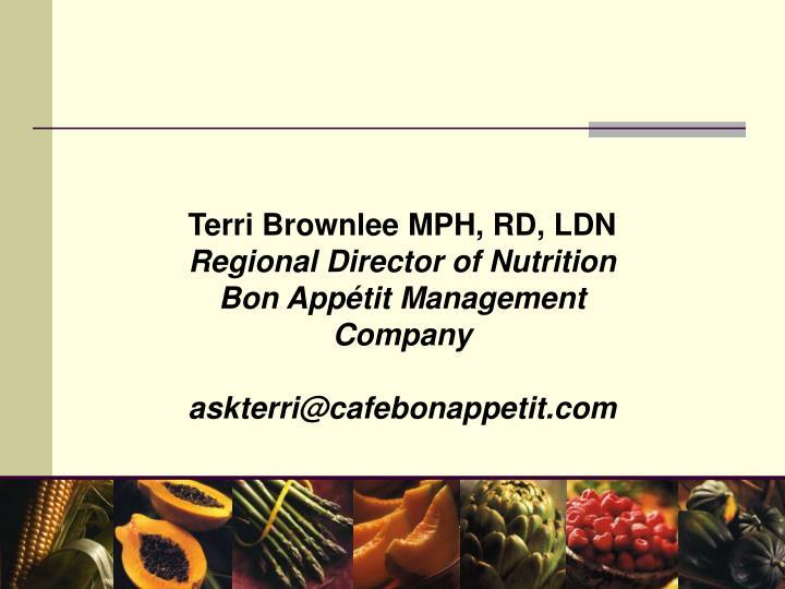 Terri Brownlee MPH, RD, LDN