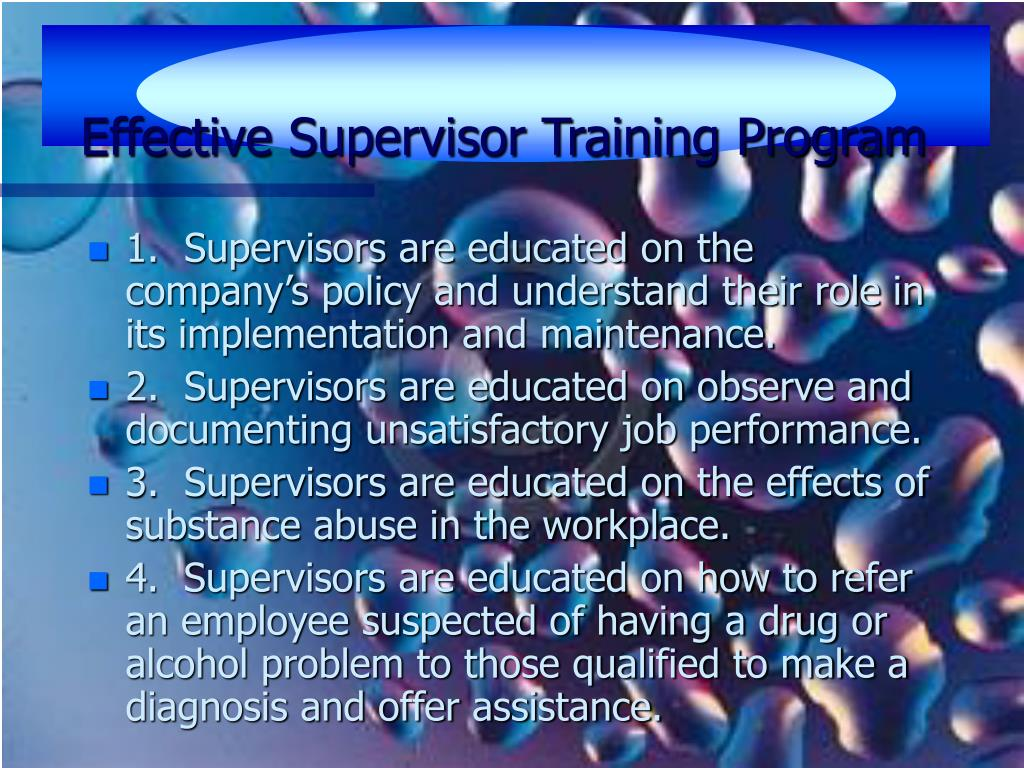 Effective Supervisor Training Program