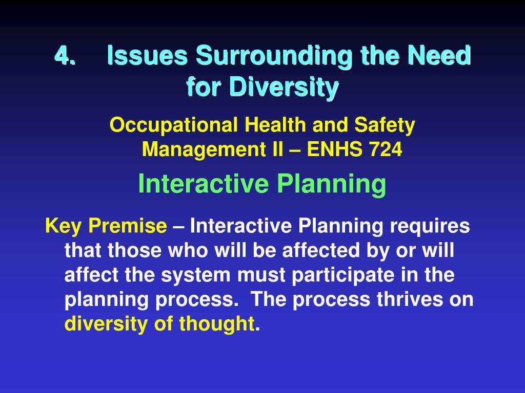 4.Issues Surrounding the Need for Diversity