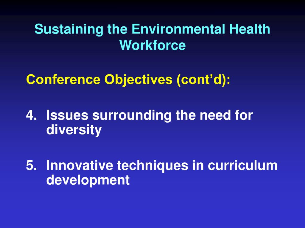 Sustaining the Environmental Health Workforce