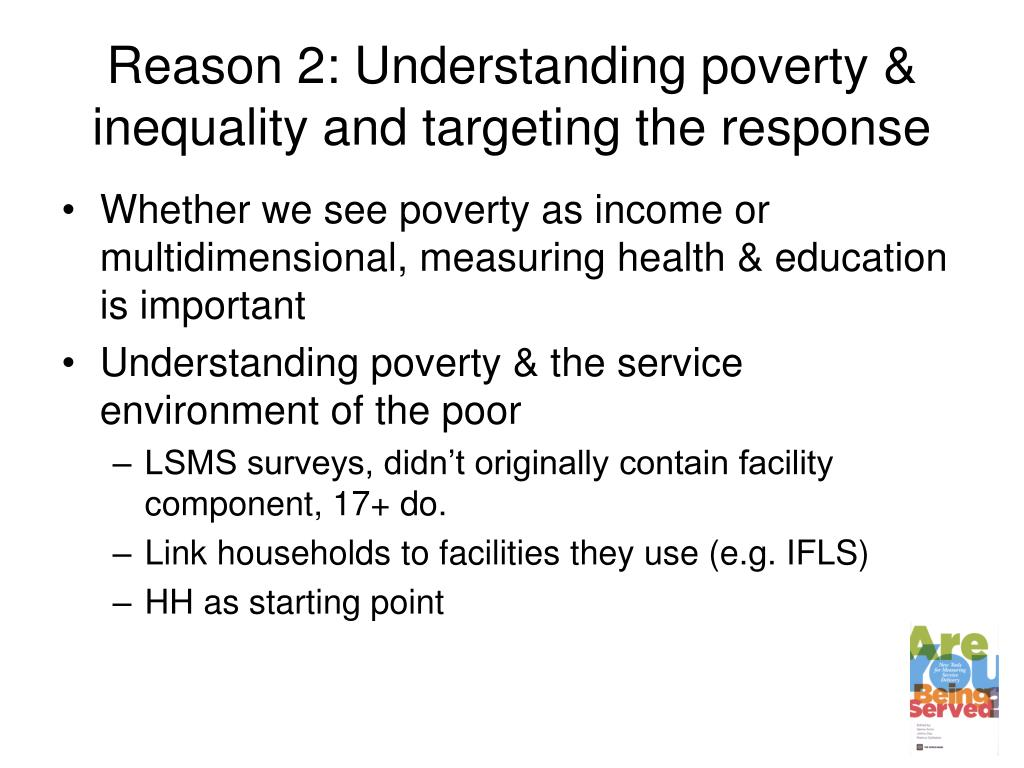Reason 2: Understanding poverty & inequality and targeting the response