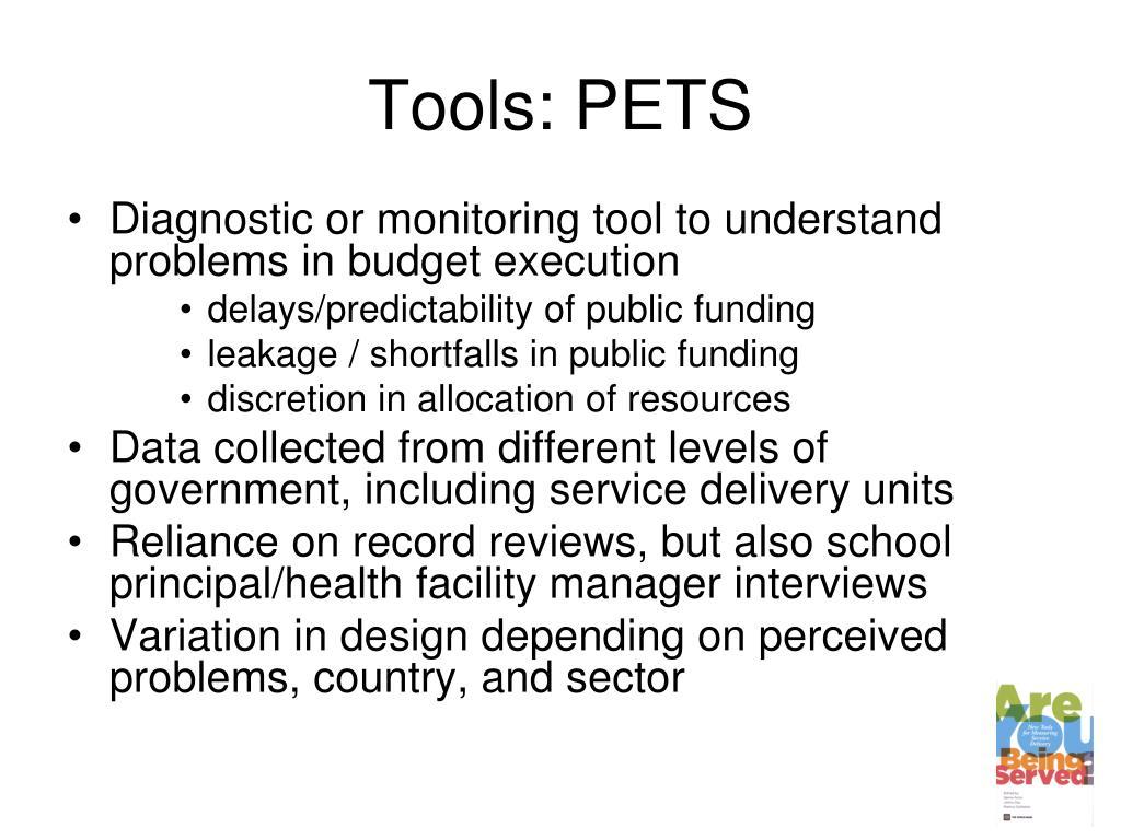 Tools: PETS