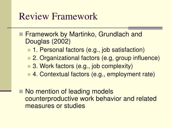 Review Framework