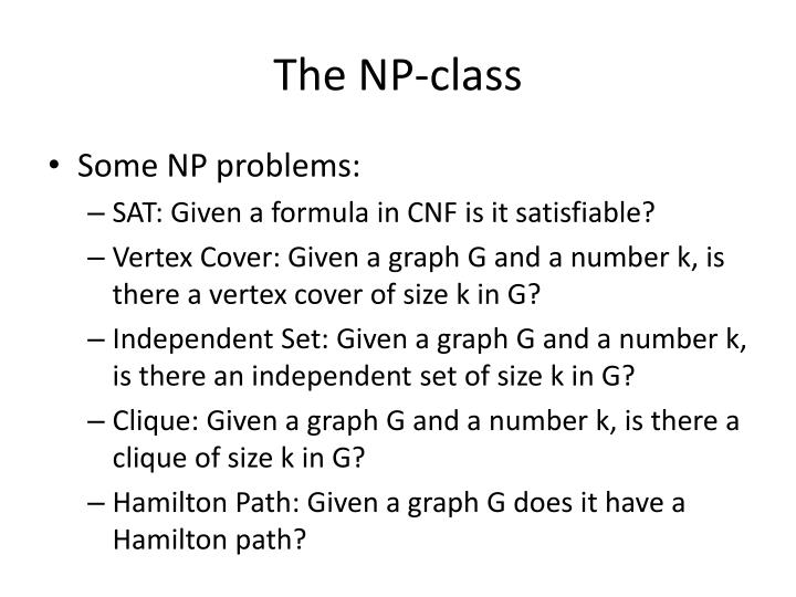 The NP-class
