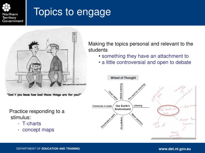 Topics to engage