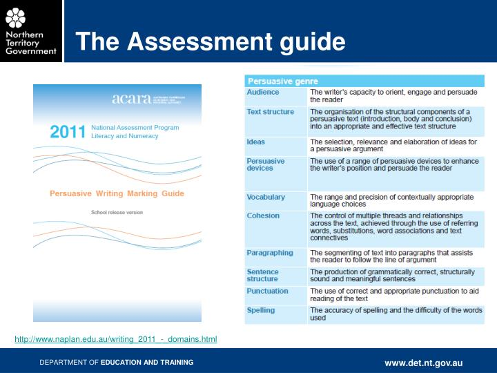 The Assessment guide