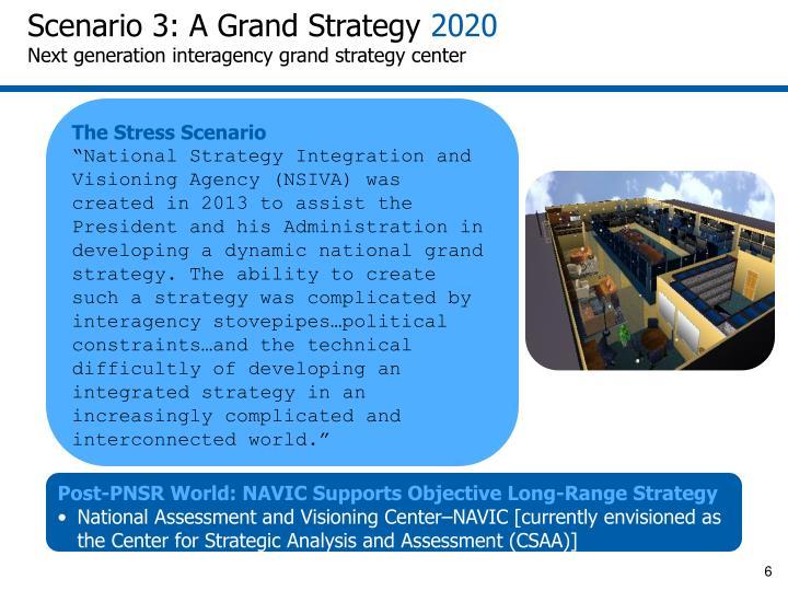 Scenario 3: A Grand Strategy