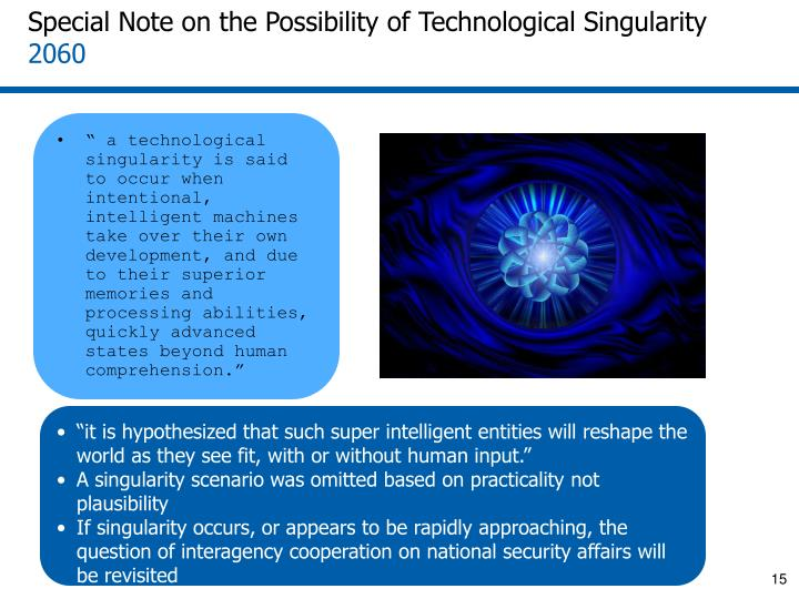Special Note on the Possibility of Technological Singularity