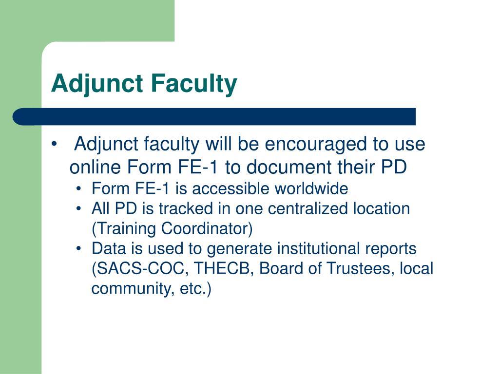 Adjunct Faculty