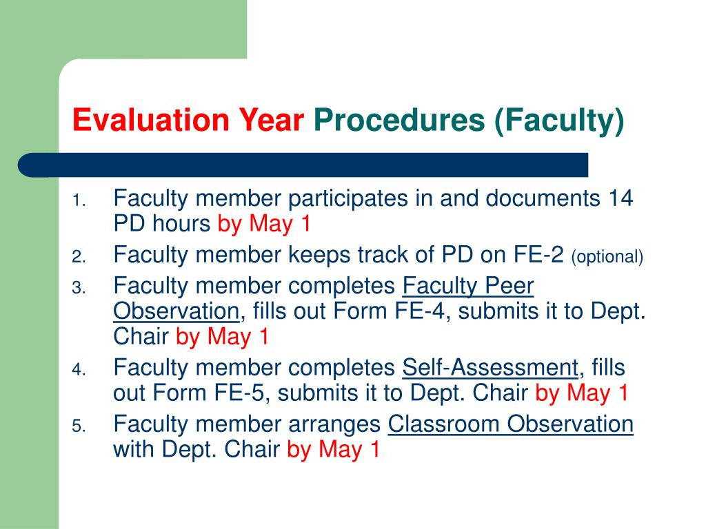 Evaluation Year
