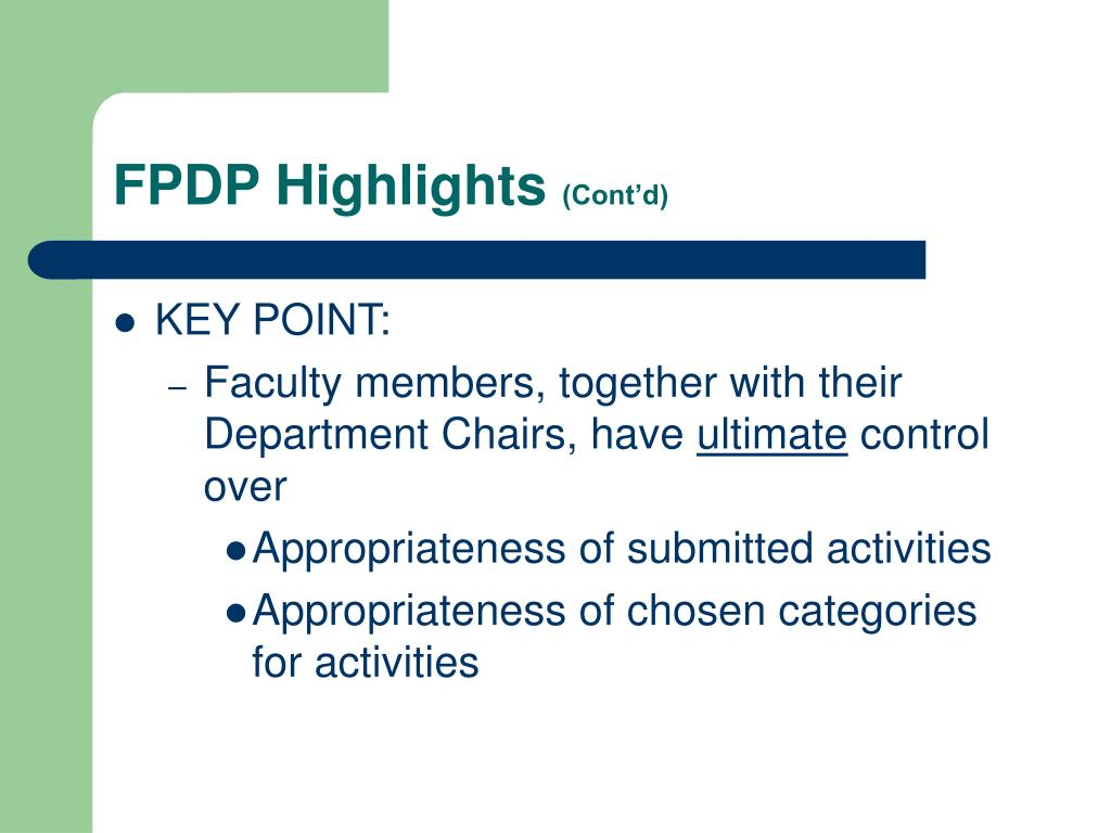 FPDP Highlights