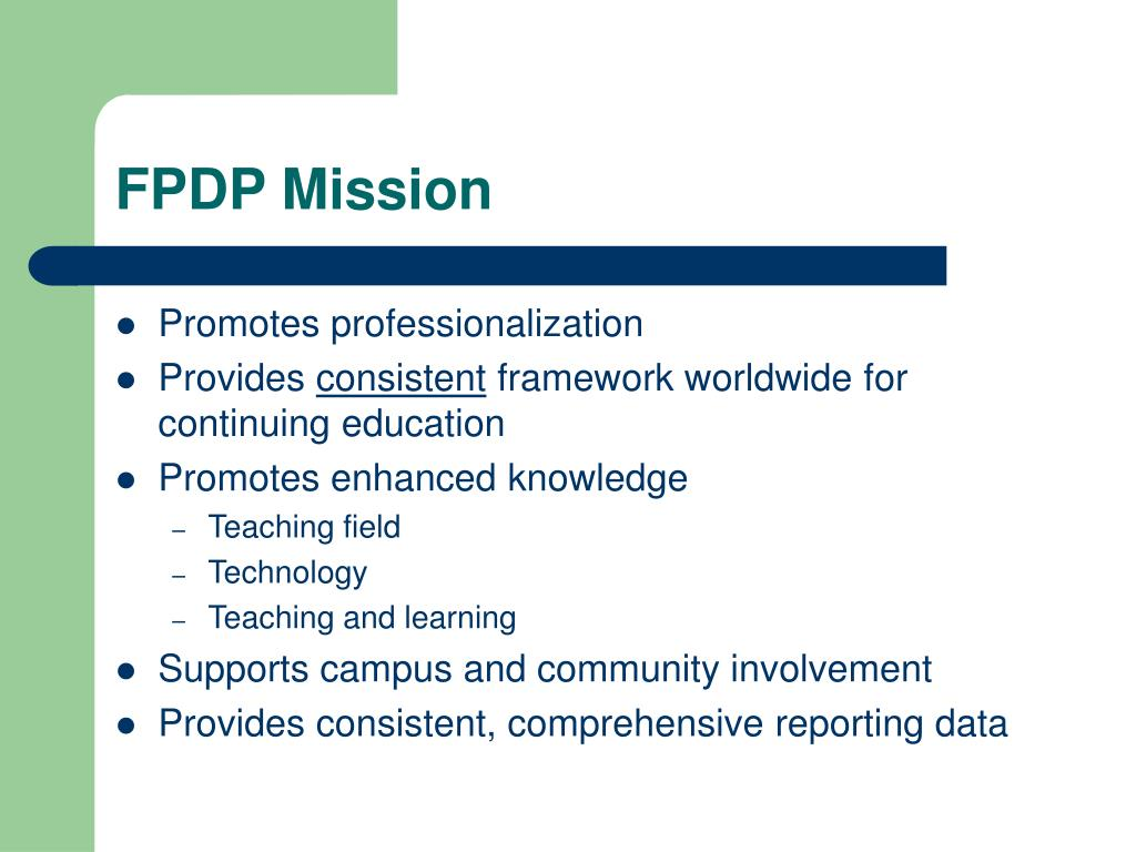 FPDP Mission
