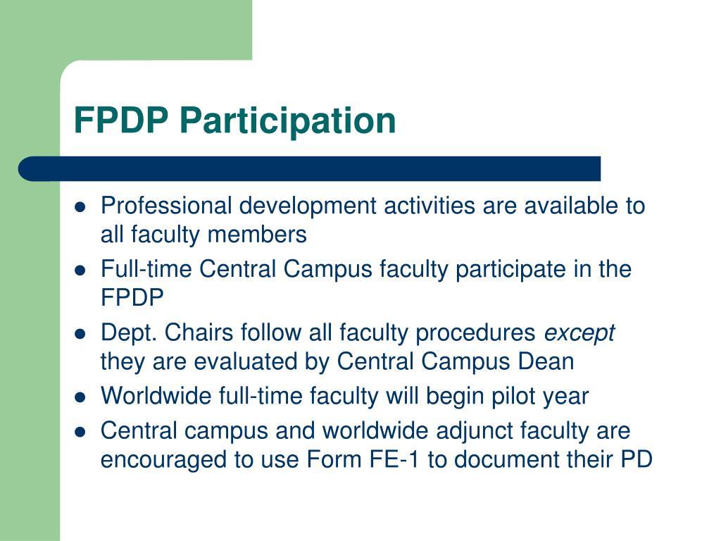 FPDP Participation