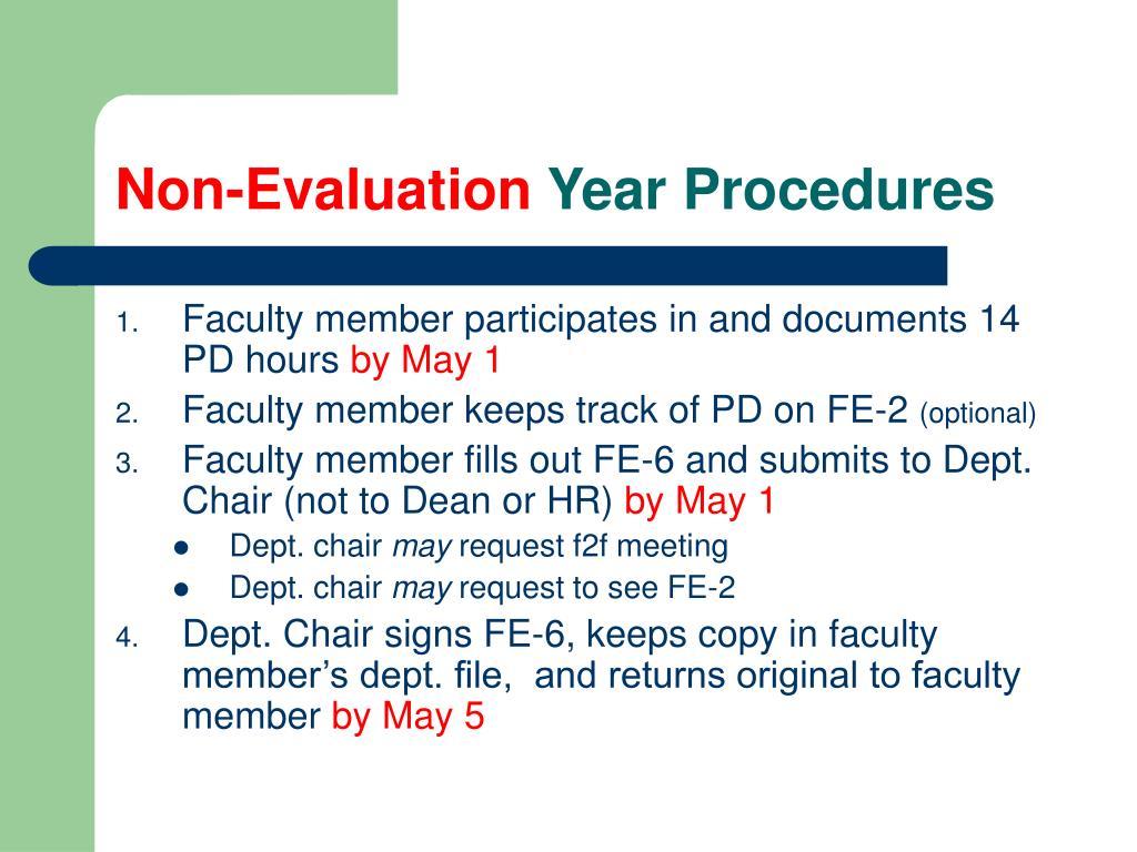 Non-Evaluation