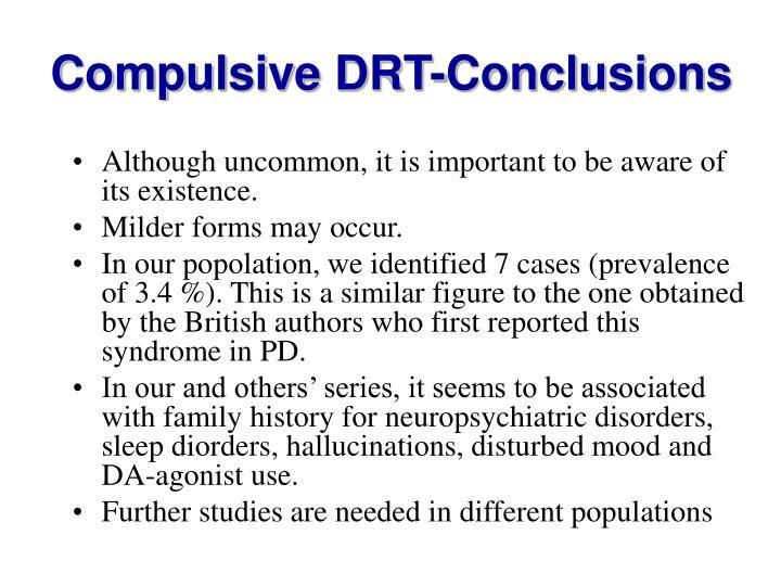 Compulsive DRT-Conclusions