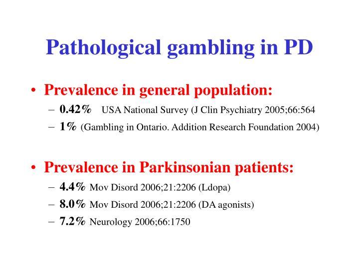 Pathological gambling in PD